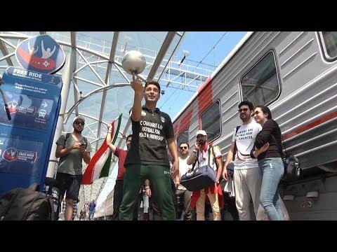 Новая волна фанатов: в Саранск приехали болельщики команд Ирана и Португалии