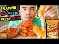 How to make FLAMMIN HOT CHEETO MOZZA STICKS | Recipe | MUKBANG | QT
