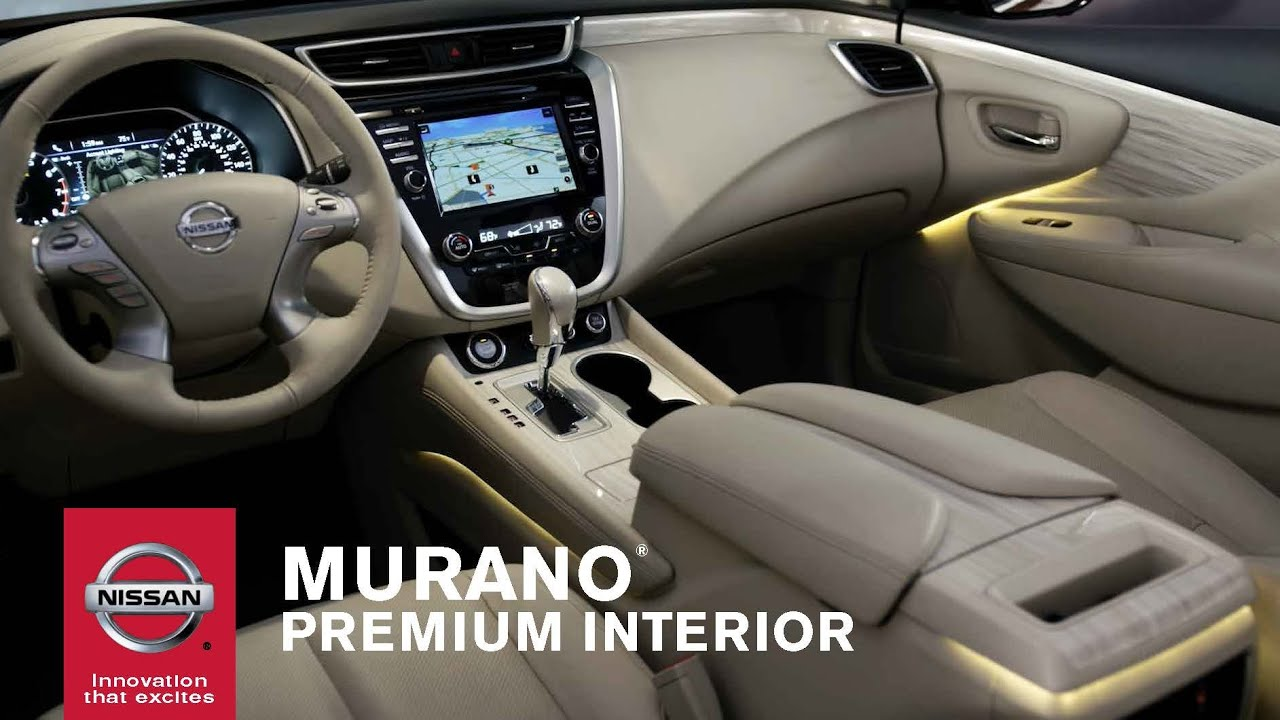 2015 nissan murano premium interior youtube. Black Bedroom Furniture Sets. Home Design Ideas