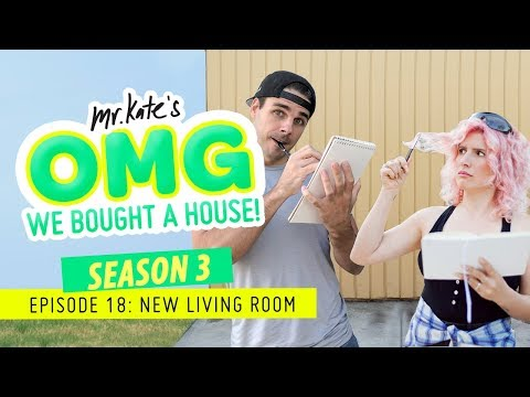 We Painted Our Living Room Black! | OMG We Bought A House! | Mr. Kate