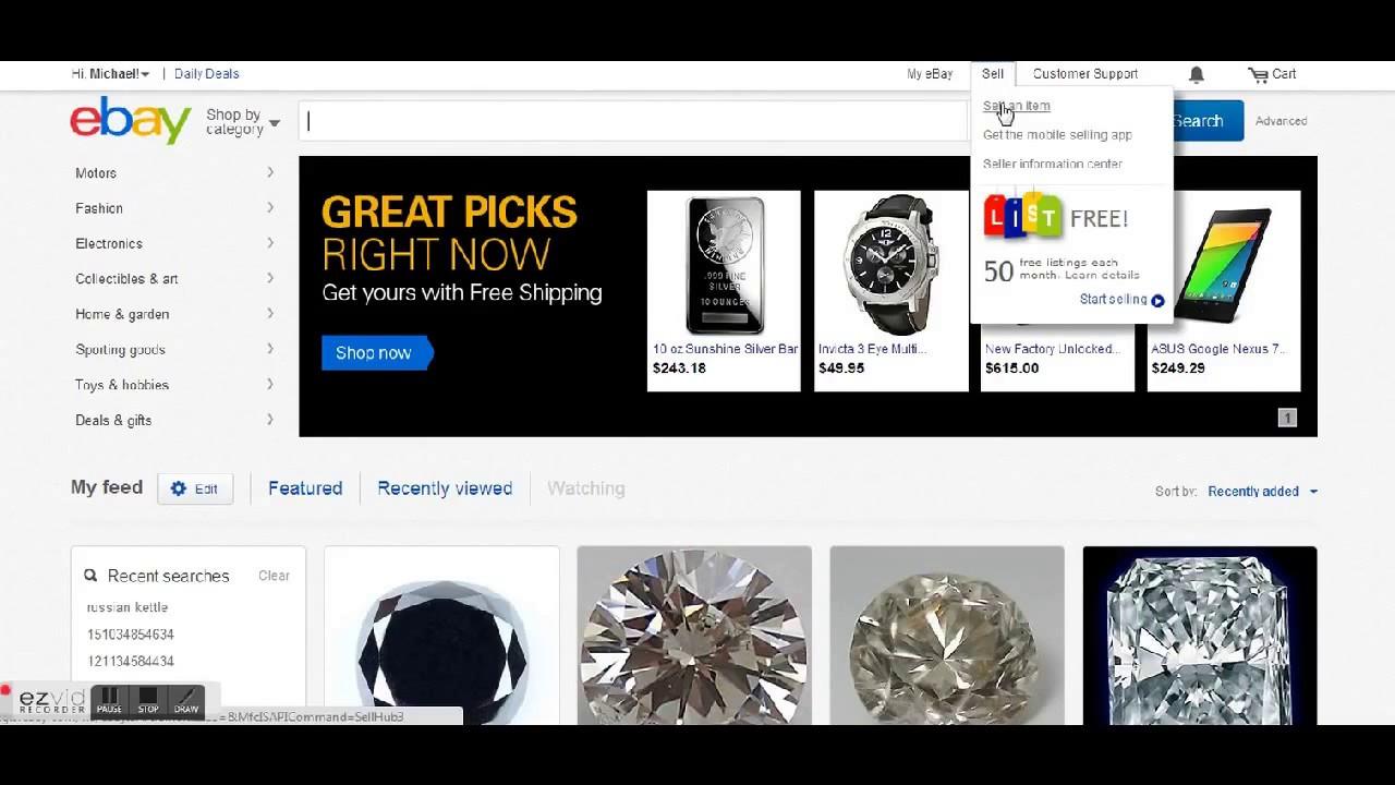 Как выставить товар на продажу на аукцион eBay - Русский eBay - YouTube
