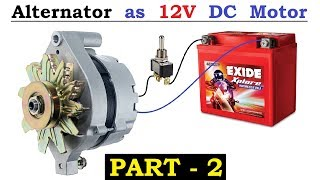 Wow! Car Alternator as DC Motor with 12V ( UPS Battery ) - High Speed & Torque using BLDC Controller