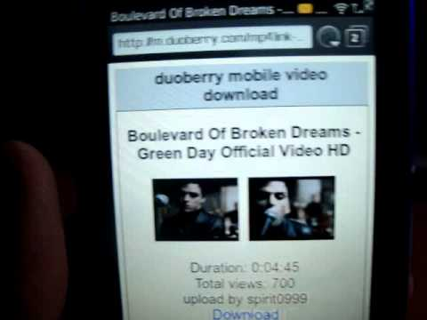 Descarga videos de youtube desde tu BlackBerry