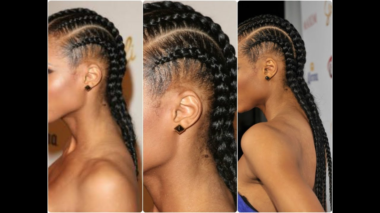 Simple and Easy: Cornrow Tutorial   YouTube - Cute Hairstyles With Weave