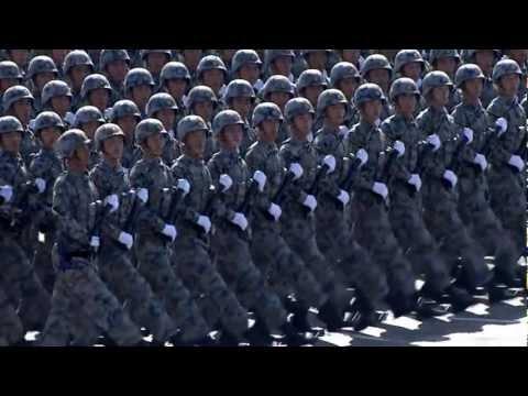 [60周年国庆阅兵 720HD] 04 - 徒步方队走过主席台