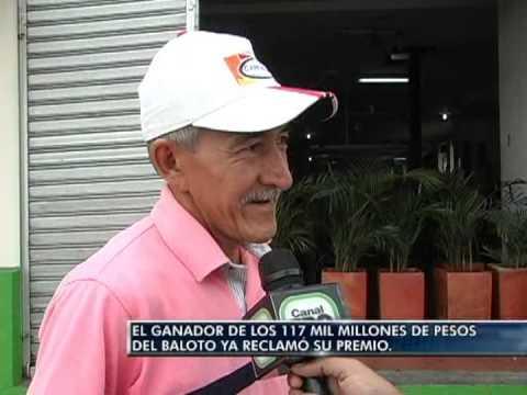 El ganador de los 117 mil millones de pesos del Baloto ya reclamó su premio