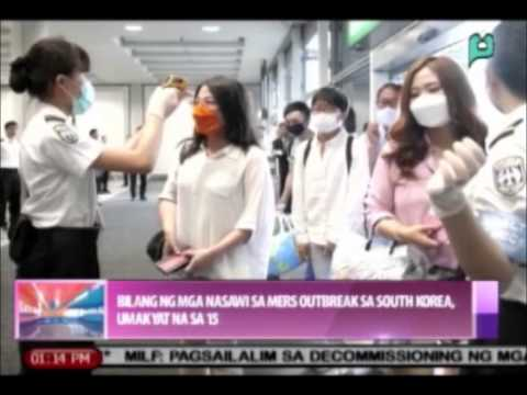 News@1: Mga nasawi sa MERS-CoV outbreak sa South Korea, nasa 15 na || June 15, '15