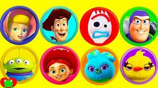 Toy Story 4 Play Doh Surprises Forky, Woody, Buzz Lightyear