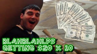 Blahblahlps Getting Slapped with Money (Shoutout Vid)