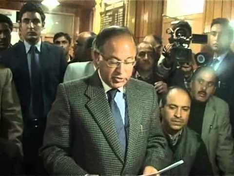 peoples democratic party senior leader Tariq Hameed karra files nomination papers.