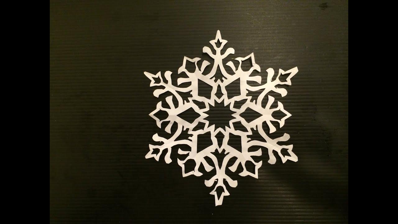 すべての折り紙 折り紙結晶作り方 : 雪の結晶 ② Snowflake おりがみ ...