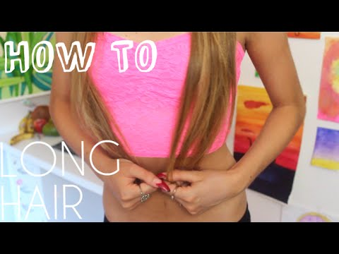 How To Have Long Hair | How I Straighten My Hair + My Haircare Routine video