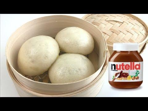 Nutella Steam Bao Bun Recipe   Resepi Pau Gebu Nutella