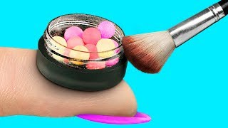 9 DIY Weird Makeup Ideas / Miniature And Giant Makeup