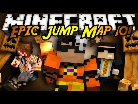 Minecraft: Epic Jump Map Halloween Part 1!