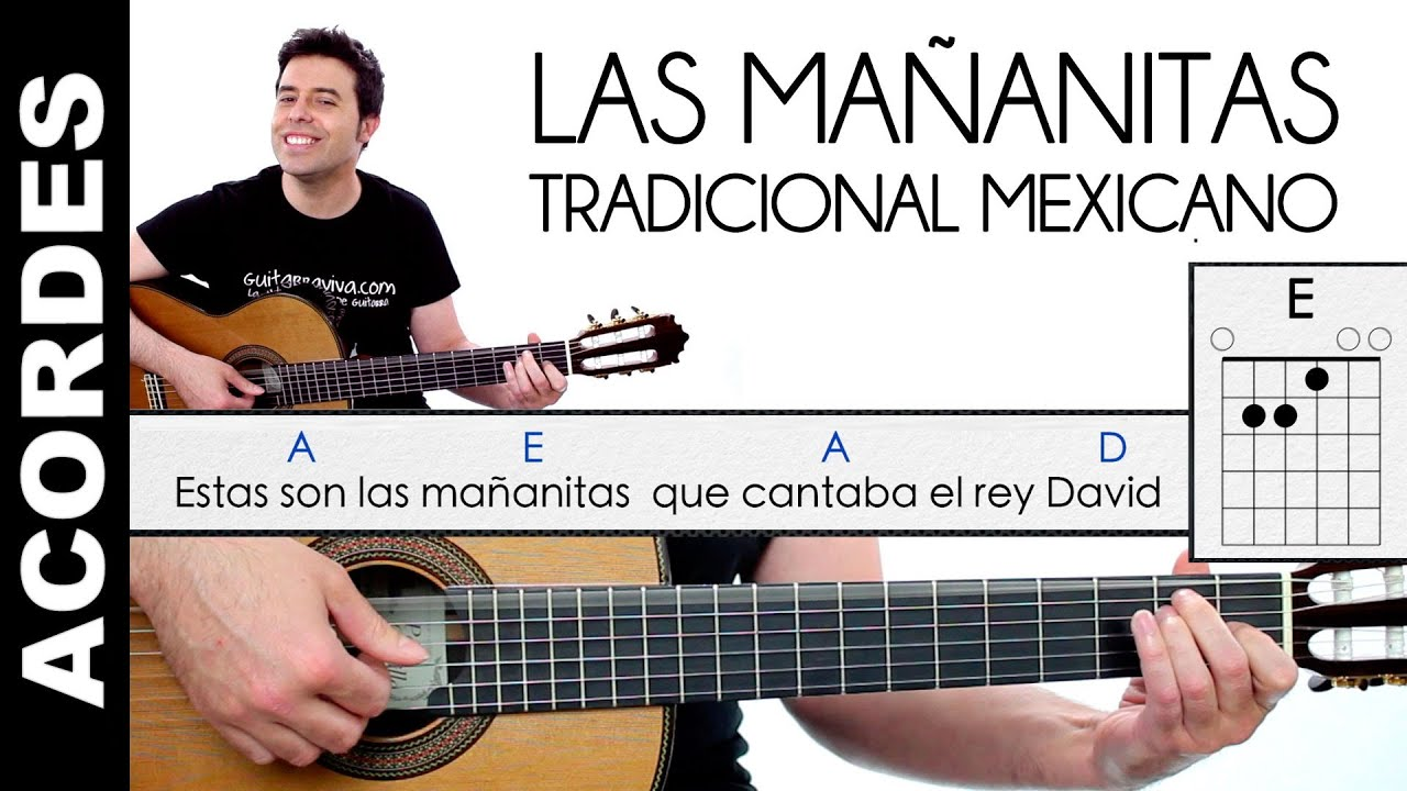 Las Mañanitas en guitarra ACORDES Y LETRA tutorial y enlace a clase ...