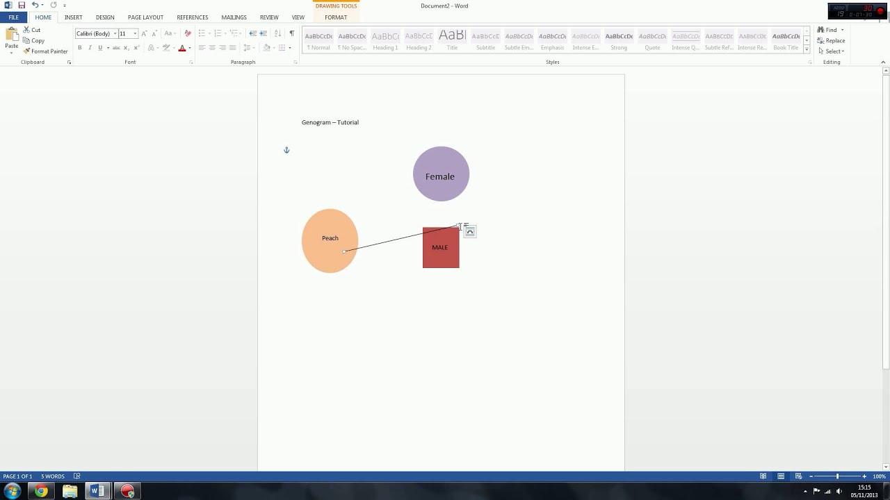 genogram  u0026 eco map tutorial - microsoft word