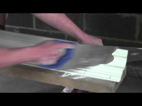 Plaster Coving Installation - How To Cut An Internal Mitre