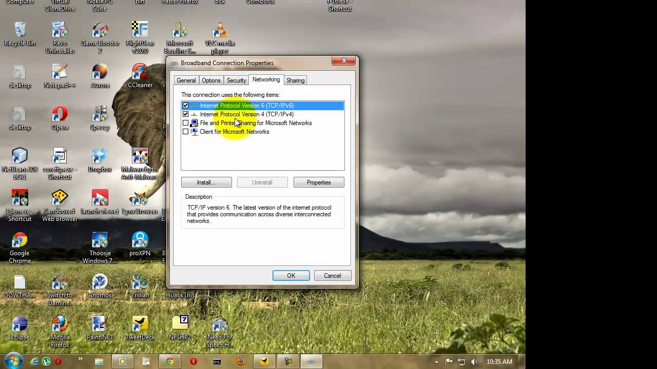 how to connect to dns server windows 7