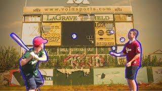 Baseball Trick Shots! *ABANDONED STADIUM*