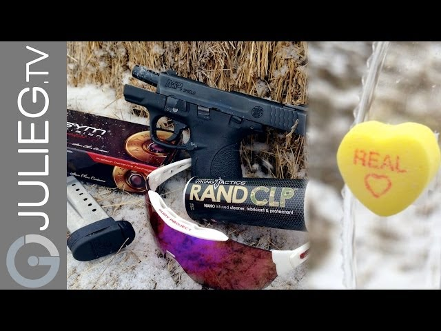 JulieG.TV Gone SHOOTing | Julie Golob M&P Shield Valentine Candy Trick Shot