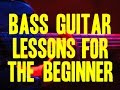 BASS GUITAR LESSONS FOR THE BEGINNER INTRO By Scott Grove