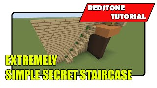 Extremely Simple Secret Staircase (Minecraft Xbox TU21/PlayStation CU8)