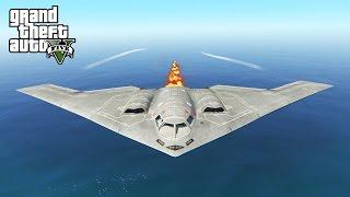 EPIC CARPET BOMBING IN GTA 5! B2 BOMBER MOD (GTA V PC Mods)