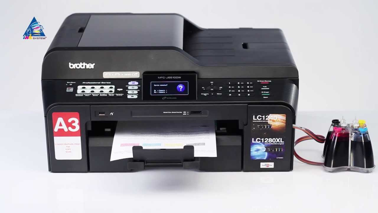 Ciss Installation On Brother Mfc J6510dw Youtube