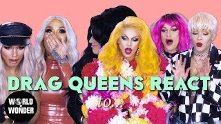 DRAG QUEENS REACT: Giving Birth w/ Aquaria, Derrick, Nebraska, Jade, Sonique, Kimora, & Nicole
