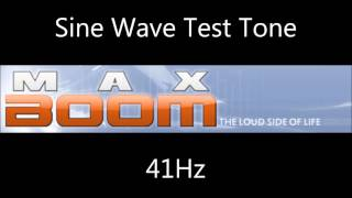 Sine Wave Test Tone 41Hz