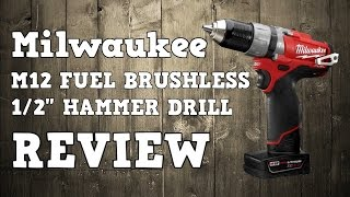"Milwaukee M12 Fuel Brushless 1/2"" Hammer Drill 2404-22 CDD-402C Review"