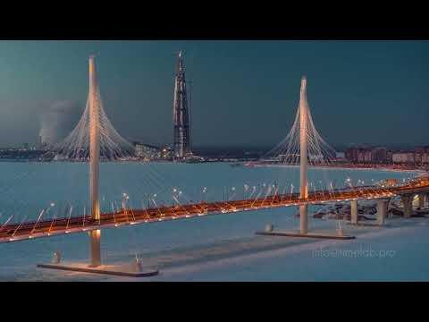 Зимний Санкт-Петербург с высоты