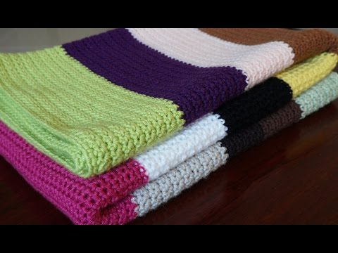 Crocheting A Baby Blanket For Beginners : Very Easy Crochet Baby Blanket For Beginners - Quick Afghan Throw