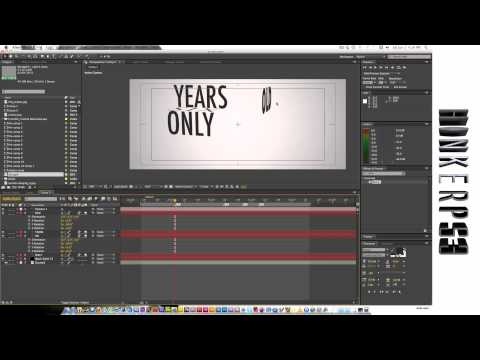 Adobe After Effects tutorial. Kinetic Typography.
