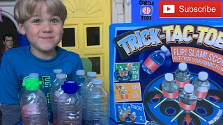 Trick-Tac-Toe from Cortex Toys - Bottle Flipping Challange - YouTube  TOY CHANNEL