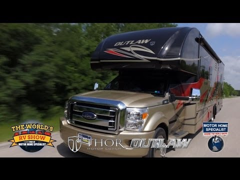 Outlaw Super C Toy Hauler Rv Review At Motor Home Specialist 2014 2015 video