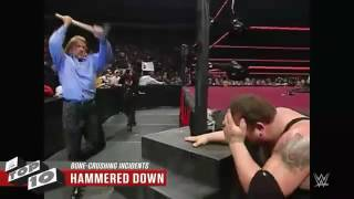 Wwe top 10 moments shows they have real danger