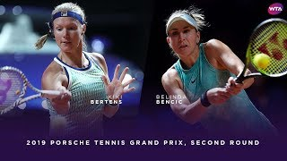 Kiki Bertens vs. Belinda Bencic | 2019 Porsche Tennis Grand Prix Second Round | WTA Highlights