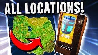 Fortnite - ALL LEGENDARY VENDING MACHINES LOCATIONS !!