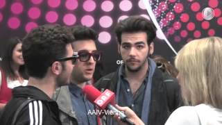 Il Volo interview in Vienna - Eurovision 2015