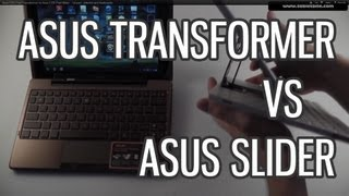 Asus EEE Pad Transformer vs Asus EEE Pad Slider - 1st part - exterior and keyboards