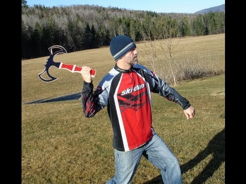 Primitive Hunting Boomerang Designs, Throws And Trick Shots By Victor Poulin video