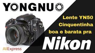 Unboxing da Cinquentinha custo x benefício da Yongnuo para Nikon YN50 - Autofoco AF