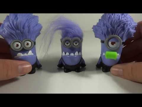 McDonalds Despicable Me 2 Evil Purple Minion Chomper Toy Review