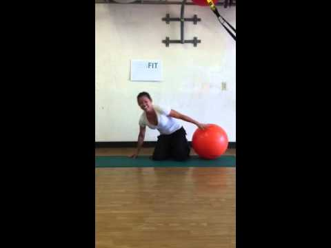 A Real Exercise Ball Workout from LisaFit Point Loma Personal Trainer