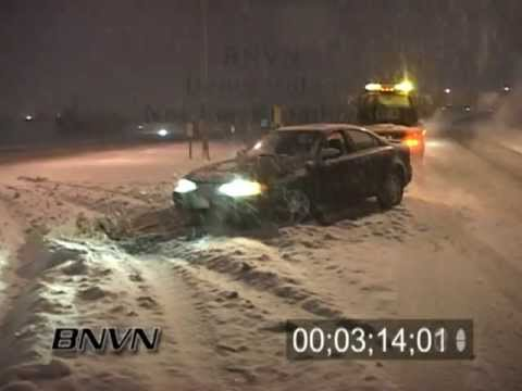 Various Winter Weather Bad Driving Conditions Stock Video Part 7