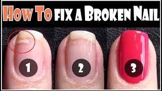 HOW TO FIX A BROKEN NAIL | REPAIR YOUR SPLIT NAILS EASY STEP BY STEP TECHNIQUE FOR BEGINNERS