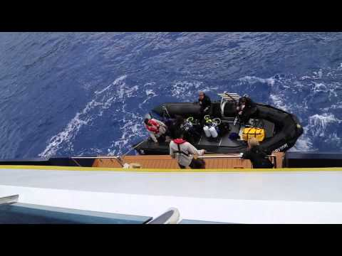 Scuba Return to the Orion from Pitcairn Island