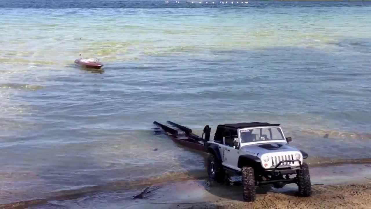 Rc Boat Trailer Launch Recovery Axial Scx10 Jeep